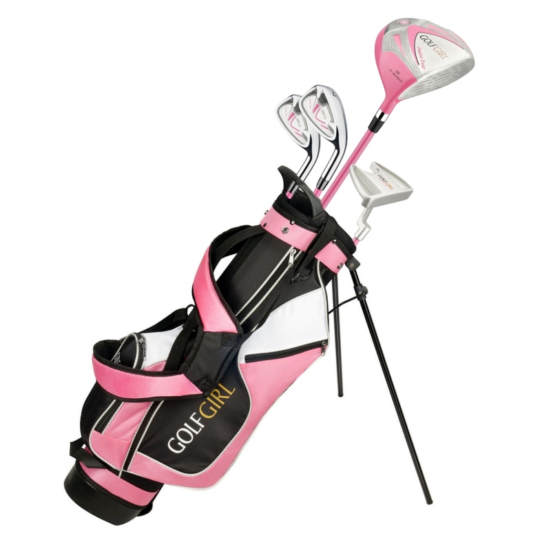 Golf Girl Junior Girls Golf Set V3 with Pink Clubs and Bag, Right Hand #