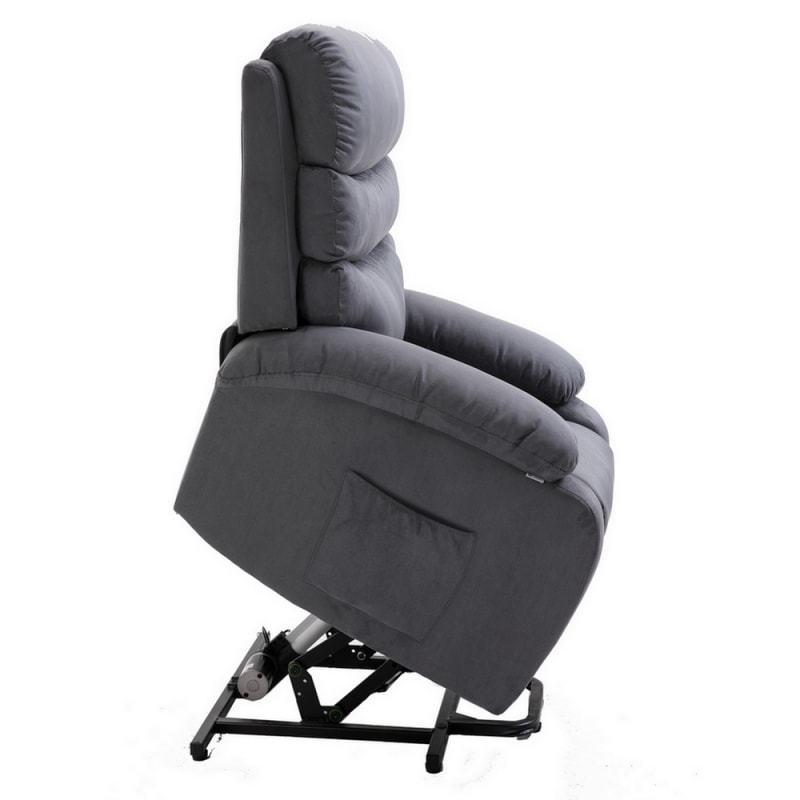 Homegear 2-Remote Microfiber Power Lift Electric Recliner Chair V2 with Massage, Heat and Vibration with Remote - Charcoal #5