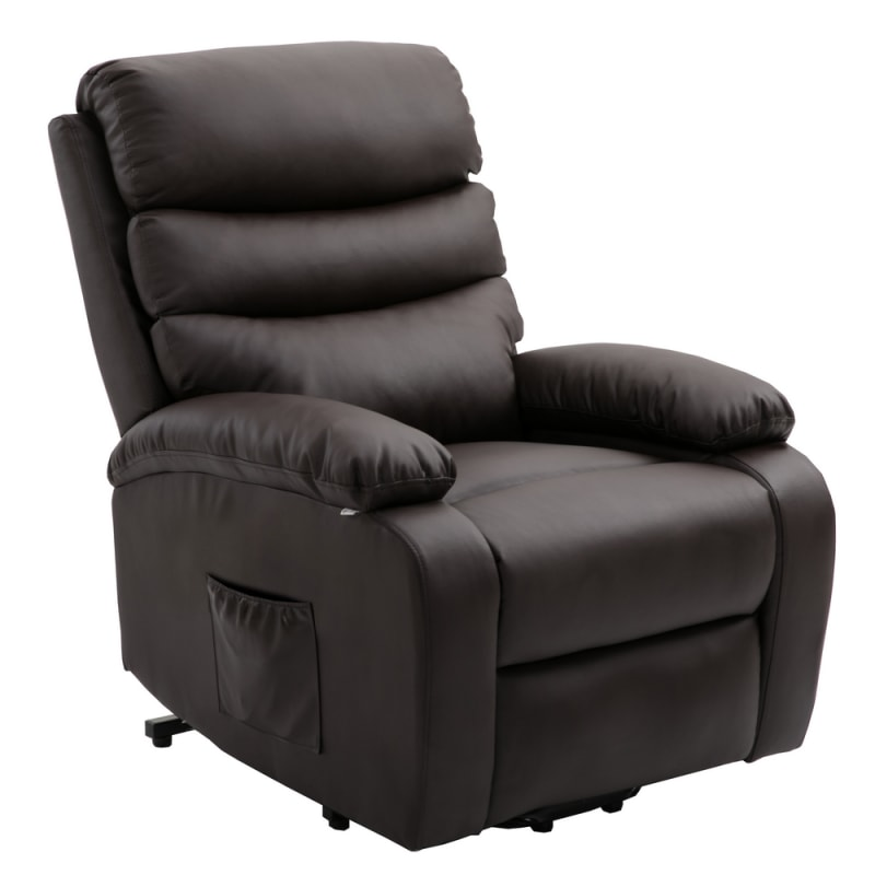 Enjoyable Homegear Pu Leather Power Lift Electric Recliner Chair With Massage Heat And Vibration With Remote Brown Caraccident5 Cool Chair Designs And Ideas Caraccident5Info