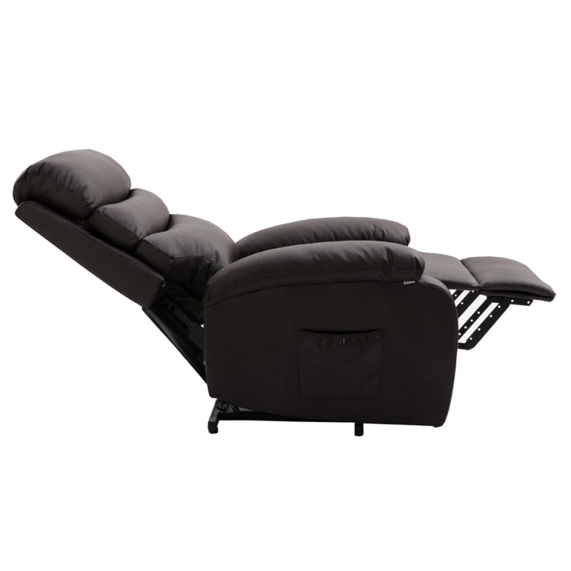 Homegear PU Leather Power Lift Electric Recliner Chair with Massage, Heat and Vibration with Remote - Brown #2