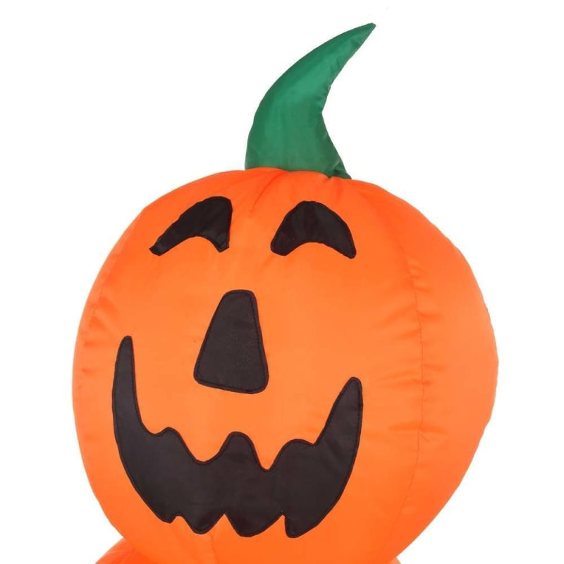 OPEN BOX Homegear Halloween Decorations 6 Feet Inflatable Pumpkin Stack with LED Glow Light #2