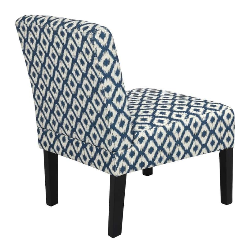 Homegear Home Furniture Accent Armless Chair - Contemporary Designs - Blue Diamonds #3