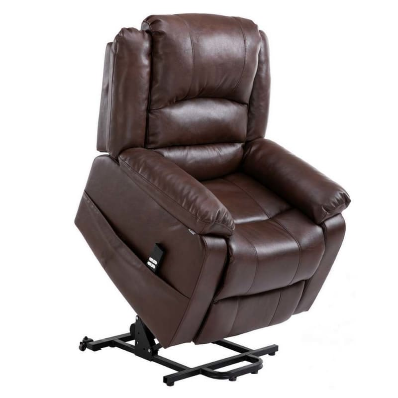 Marvelous Open Box Homegear Air Leather Dual Motor Power Lift Electric Recliner Chair With Remote Brown Gmtry Best Dining Table And Chair Ideas Images Gmtryco
