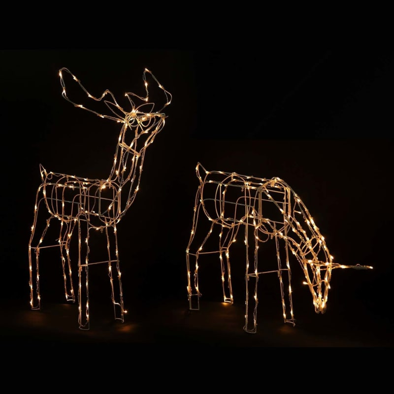 Homegear Christmas Reindeer Lights Pre-Lit Lawn Yard Wire Decoration - 2 Pack - Indoor or Outdoor Use #2