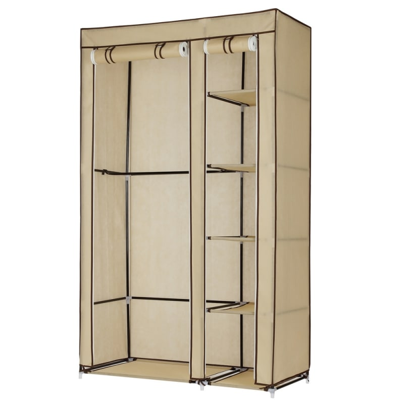 Homegear Double Fabric Wardrobe