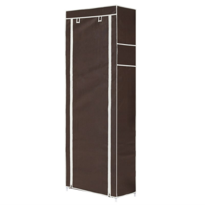 Homegear Large Free Standing Fabric Shoe Rack /Storage Cabinet Dark Brown #2
