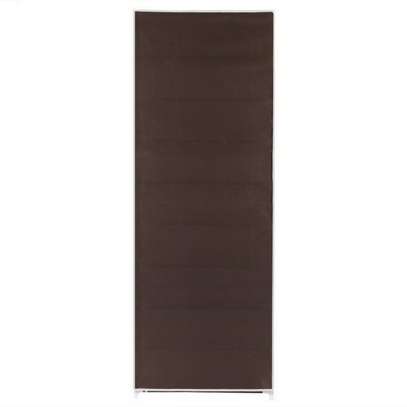 Homegear Large Free Standing Fabric Shoe Rack /Storage Cabinet V2 Dark Brown #3