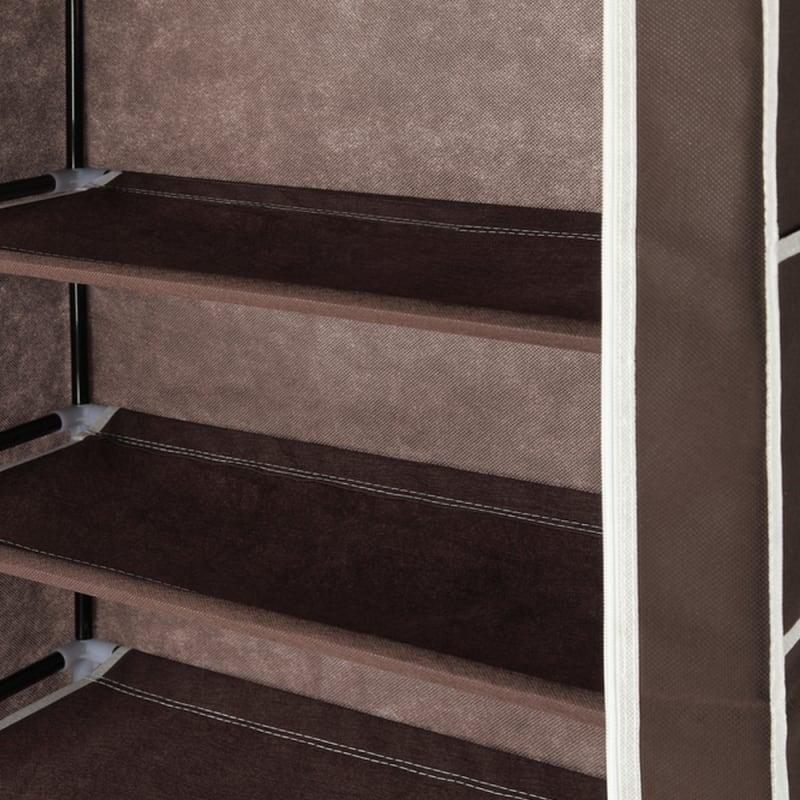 Homegear Large Free Standing Fabric Shoe Rack /Storage Cabinet V2 Dark Brown #6