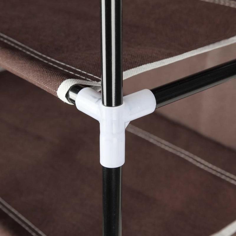 OPEN BOX Homegear Large Free Standing Fabric Shoe Rack /Storage Cabinet Dark Brown #7