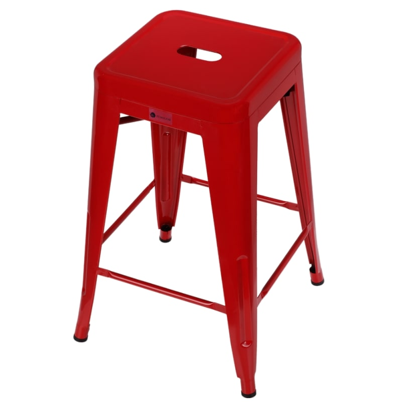 Groovy Open Box Homegear 4 Pack Stackable Metal Kitchen Stools Red Ibusinesslaw Wood Chair Design Ideas Ibusinesslaworg