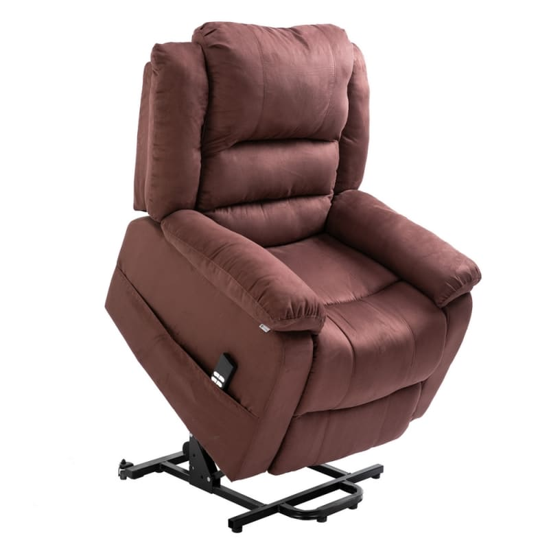 Wondrous Homegear Microfiber Dual Motor Power Lift Electric Recliner Chair With Remote Chocolate Gamerscity Chair Design For Home Gamerscityorg