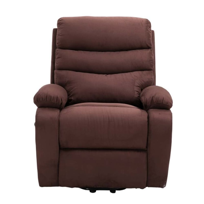 Homegear Microfiber Power Lift Electric Recliner Chair with Massage, Heat and Vibration with Remote - Brown #1