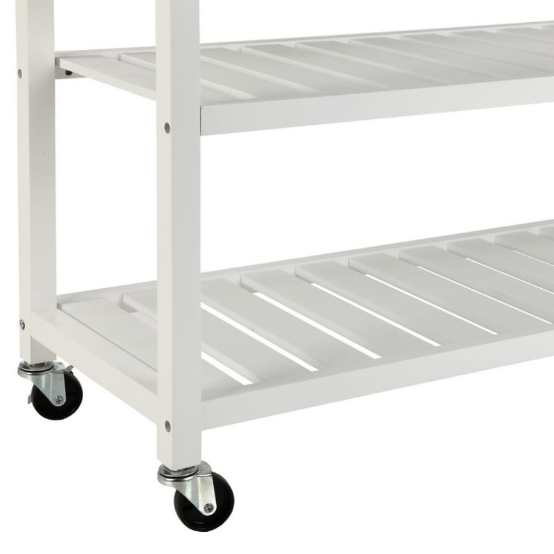 OPEN BOX Homegear Storage V2 Kitchen Cart Island White #6