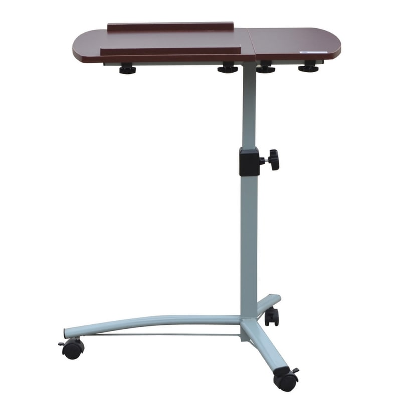 Homegear Portable Rolling Laptop Desk Table Stand On