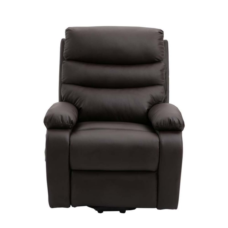 Homegear PU Leather Power Lift Electric Recliner Chair with Massage, Heat and Vibration with Remote - Brown #5