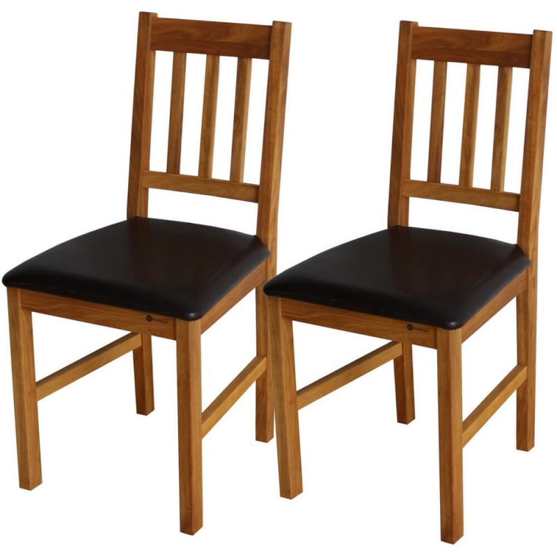 2 x Homegear Solid Oak Dining Chair