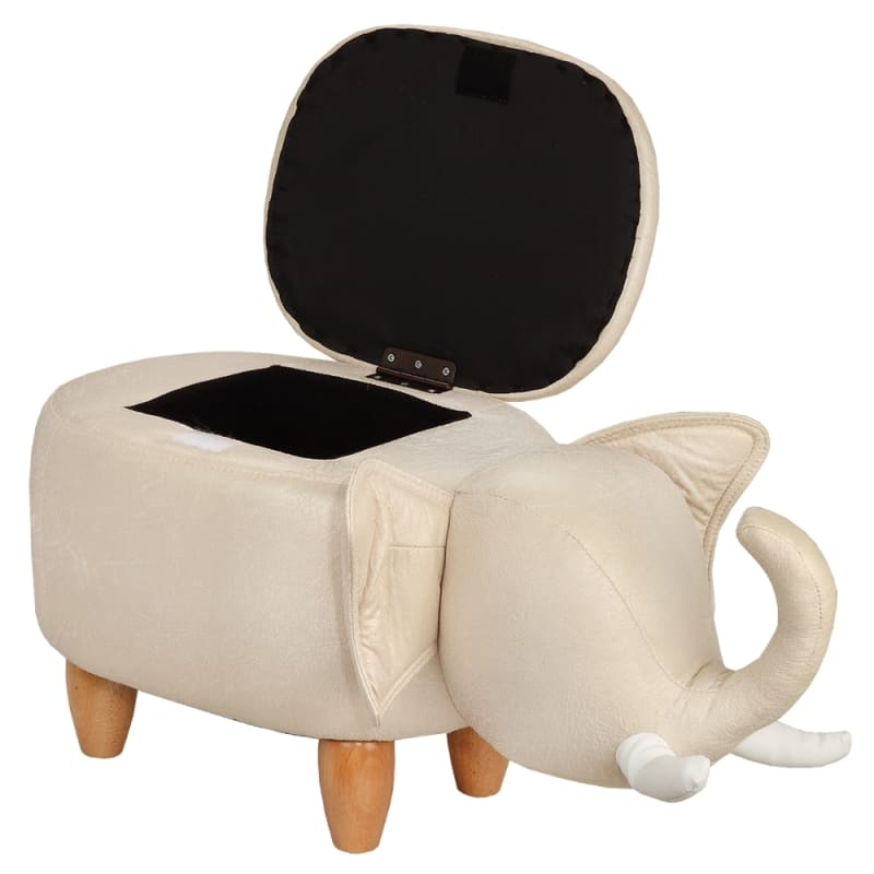 Homegear Animal Kids/Nursery Ride-On Storage Ottoman / Footrest Stool - Grey Elephant #2
