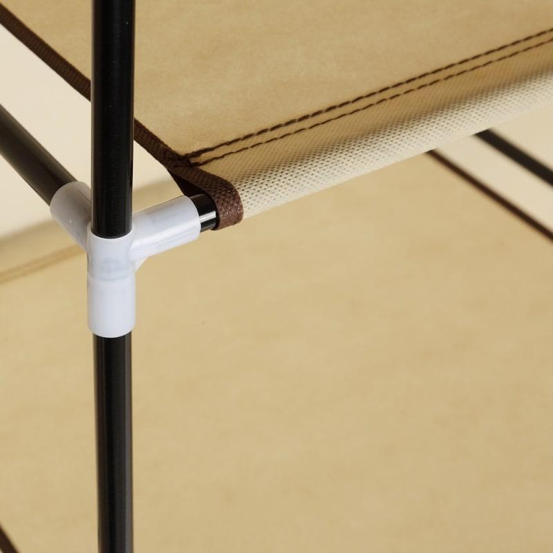 Homegear Triple Fabric Portable Wardrobe Closet Cream #7