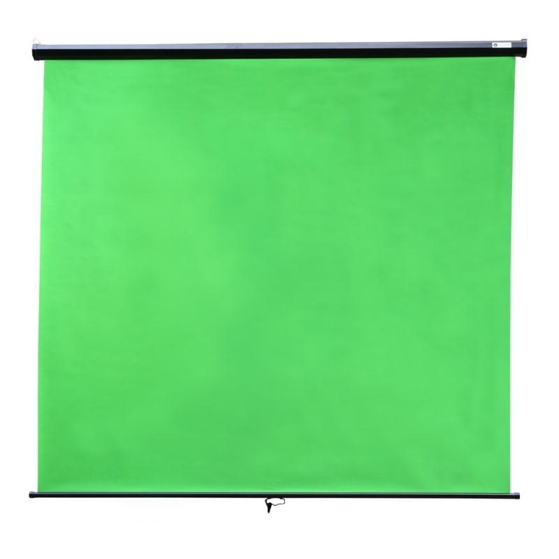 "Homegear Wall Mounted Green Screen, Pull Down, 79"" x 71"" #1"