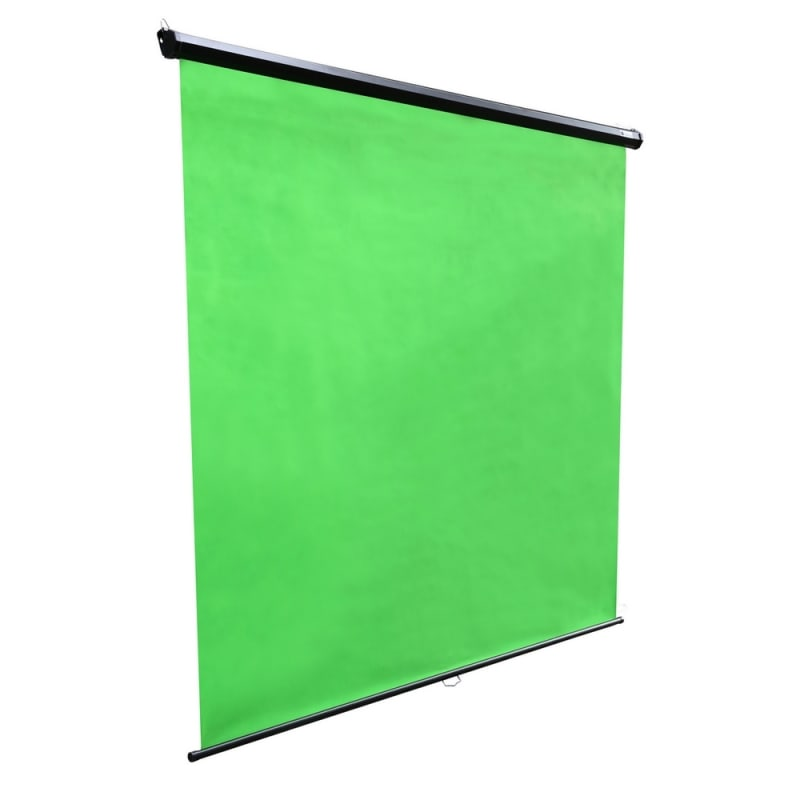 "Homegear Wall Mounted Green Screen, Pull Down, 79"" x 71"" #2"