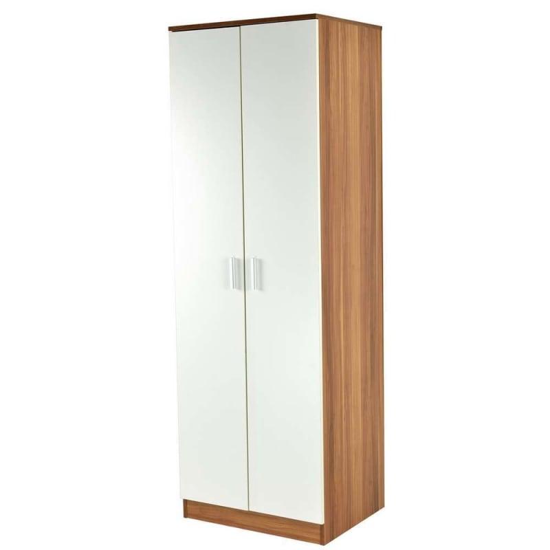 Homegear Bedroom White Wardrobe / Storage Cabinet