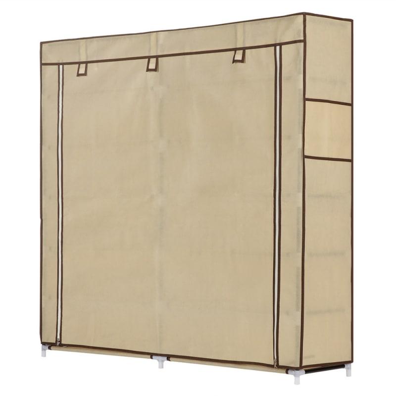 Homegear XL Free Standing Fabric Shoe Rack /Storage Cabinet Cream #1