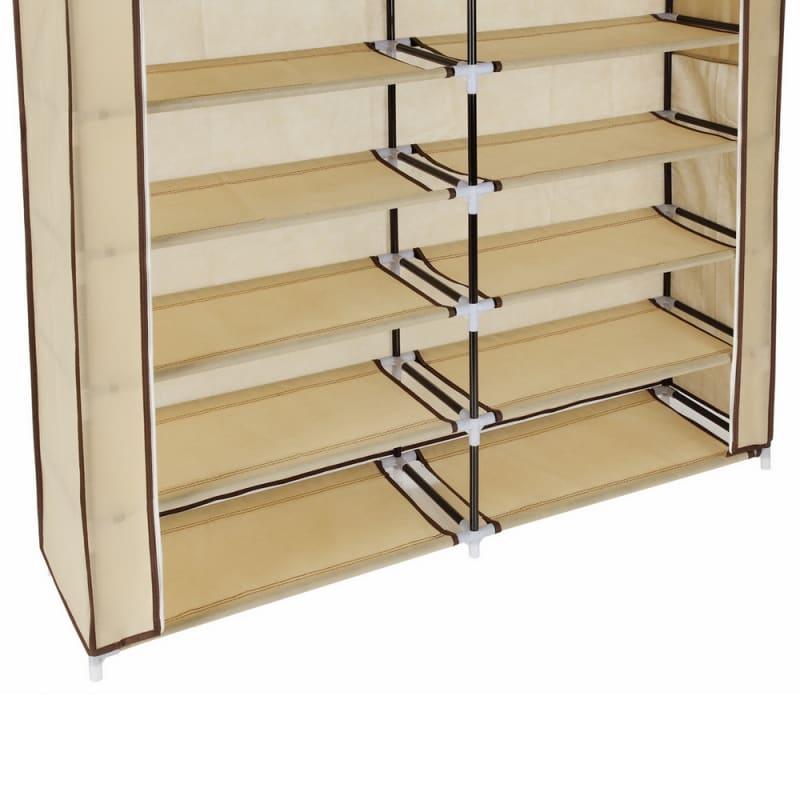 Homegear XL Free Standing Fabric Shoe Rack /Storage Cabinet Cream #4