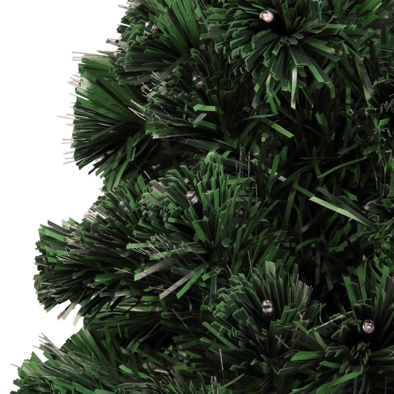 Homegear Artificial Pre-Lit Fiber-Optic Christmas Tree 3ft, Pre-lit with 95 Color Lights, Plastic Stand and Star #2