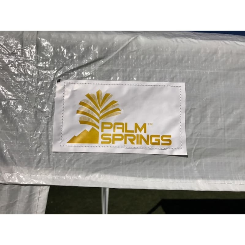 Palm Springs 10' x 20' White Canopy Party Tent with 4 Sidewalls #6