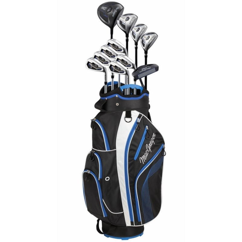 MacGregor DCT2000 Premium 1 Inch Shorter Golf Graphite/Steel Package Set with Titanium Driver and Stainless Clubs - Regular Flex #