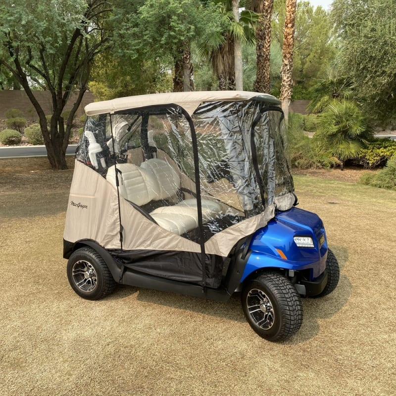 MacGregor Golf Cart Cover / Enclosure with Zippered Doors, Front and Rear #1
