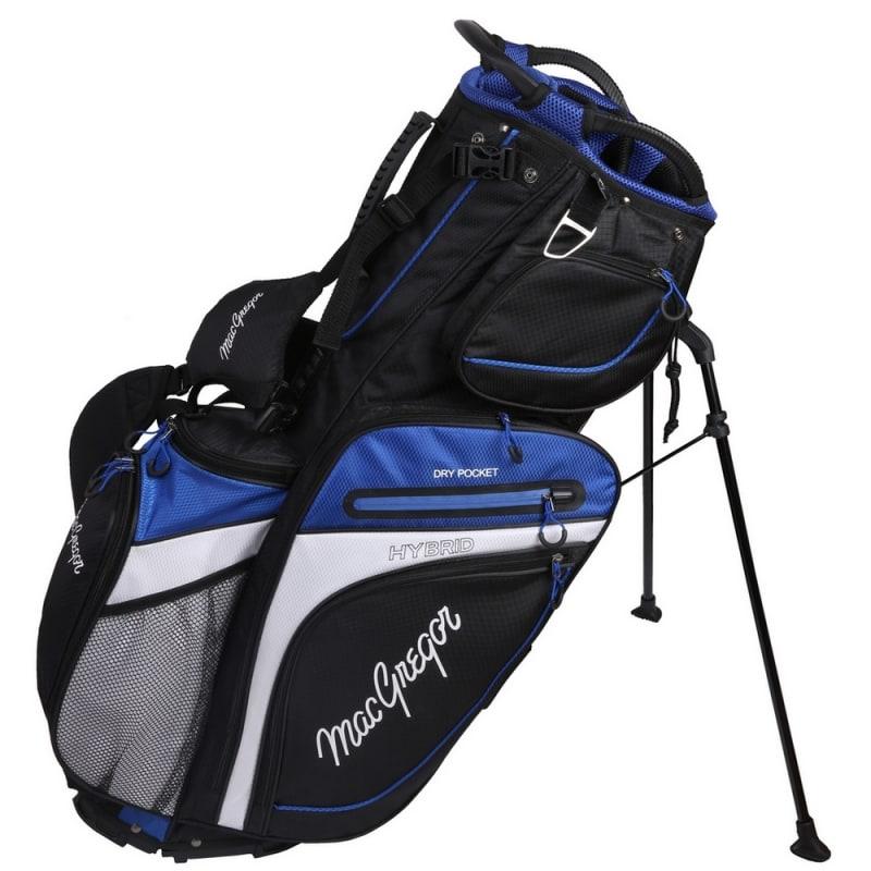 MacGregor Golf Hybrid Stand / Cart Golf Bag with 14 Way Divider, Black/Blue #2