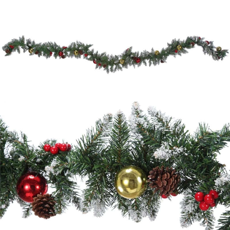 Homegear 9ft Decorated Christmas Garland