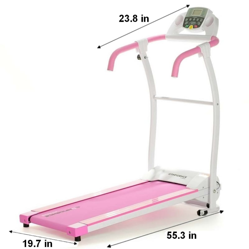 Confidence Fitness TP-1 Electric Treadmill Folding Motorized Running Machine - Pink #1