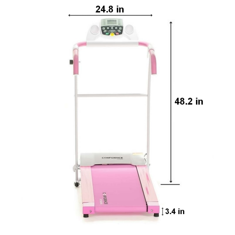 Confidence Fitness TP-1 Electric Treadmill Folding Motorized Running Machine - Pink #2