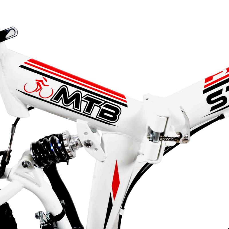 Stowabike Folding MTB V2 Mountain Bike Red / White #2