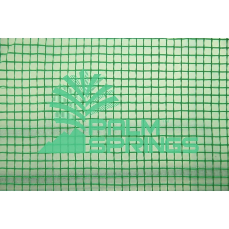 Palm Springs 12-Shelf Walk-in Greenhouse - Green Plastic Cover with Zippered Roll-Up Door #5