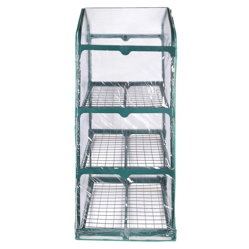 Palm Springs 3-Tier Mini Greenhouse with Cover and Roll-up Zipper Door #1