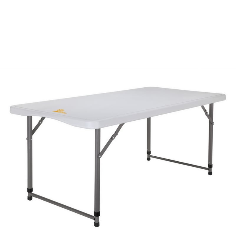 Palm Springs Portable 4ft Adjustable Height Plastic Folding Table #1