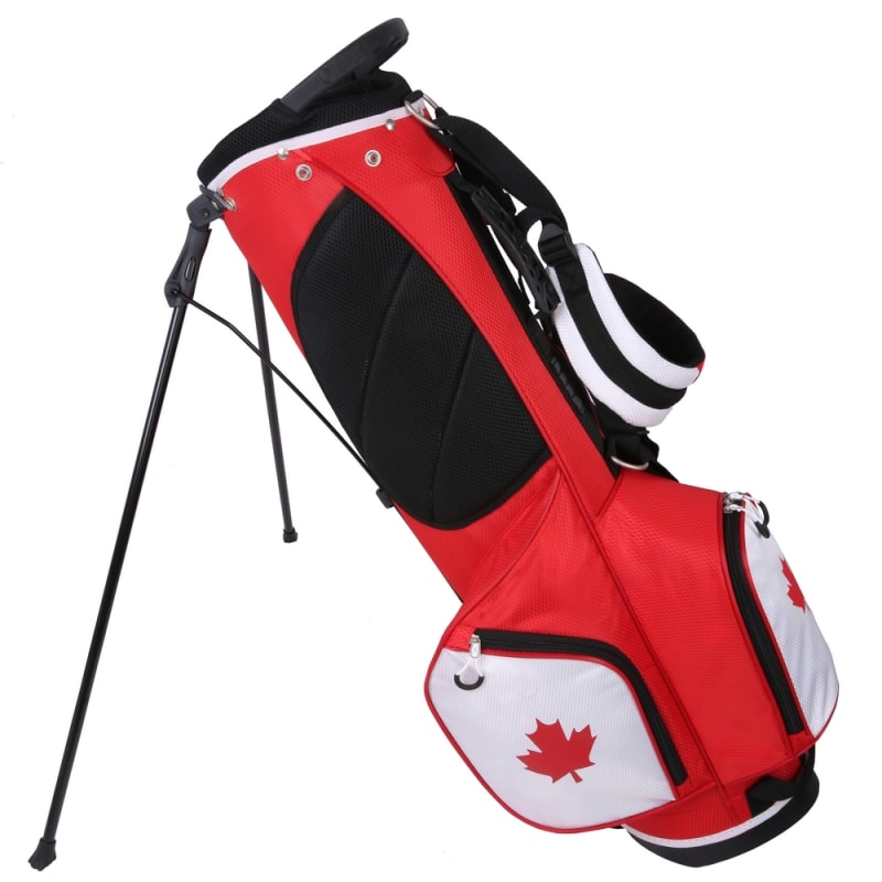 """Prosimmon Golf DRK 7"""" Lightweight Golf Stand Bag with Dual Straps Canadian Flag #"""