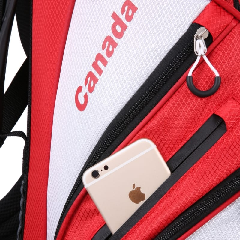 """Prosimmon Golf DRK 7"""" Lightweight Golf Stand Bag with Dual Straps Canadian Flag #2"""