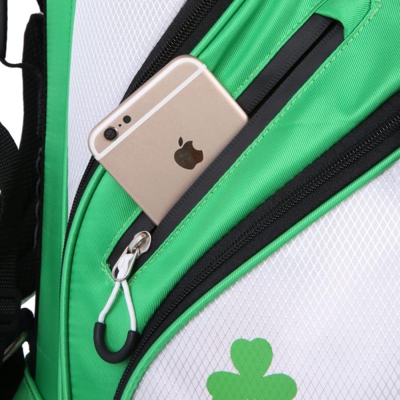 "Prosimmon Golf DRK 7"" Lightweight Golf Stand Bag with Dual Straps - Irish #3"