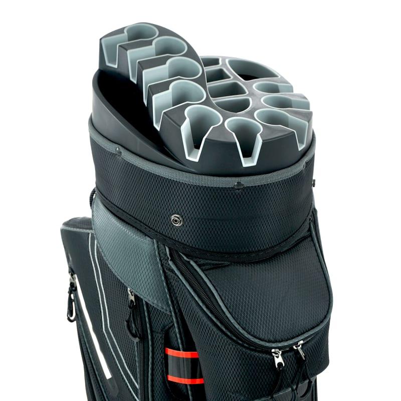 Ram Golf Premium Cart Bag with 14 Way Molded Organizer Divider Top Black Silver #5