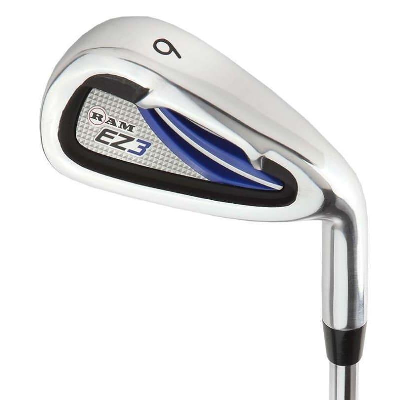 "Ram Golf EZ3 Mens -1"" Shorter Golf Clubs Set with Stand Bag - Graphite/Steel Shafts #4"