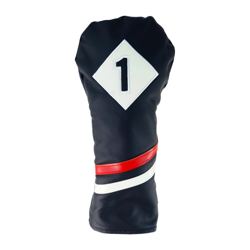 Ram Golf Premium Vintage Style PU Leather Headcovers, Retro Black, Driver