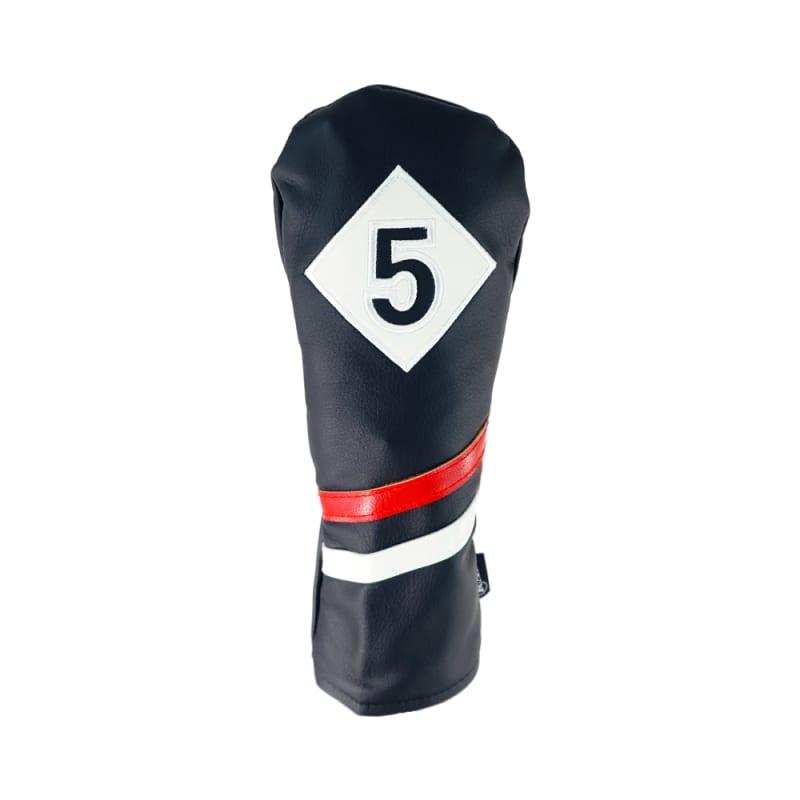 Ram Golf Premium Vintage Style PU Leather Headcovers, Retro Black, 5 Wood #