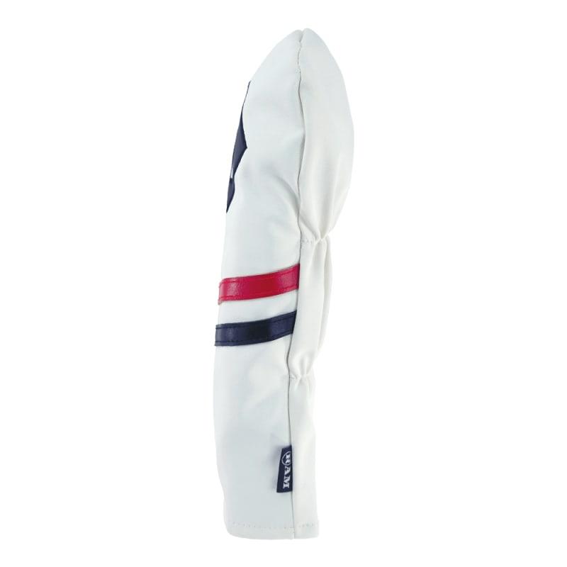 Ram Golf Premium Vintage Style PU Leather Headcovers Set, Retro White, Driver, Fairway Wood, Hybrid (1,3,X) #4