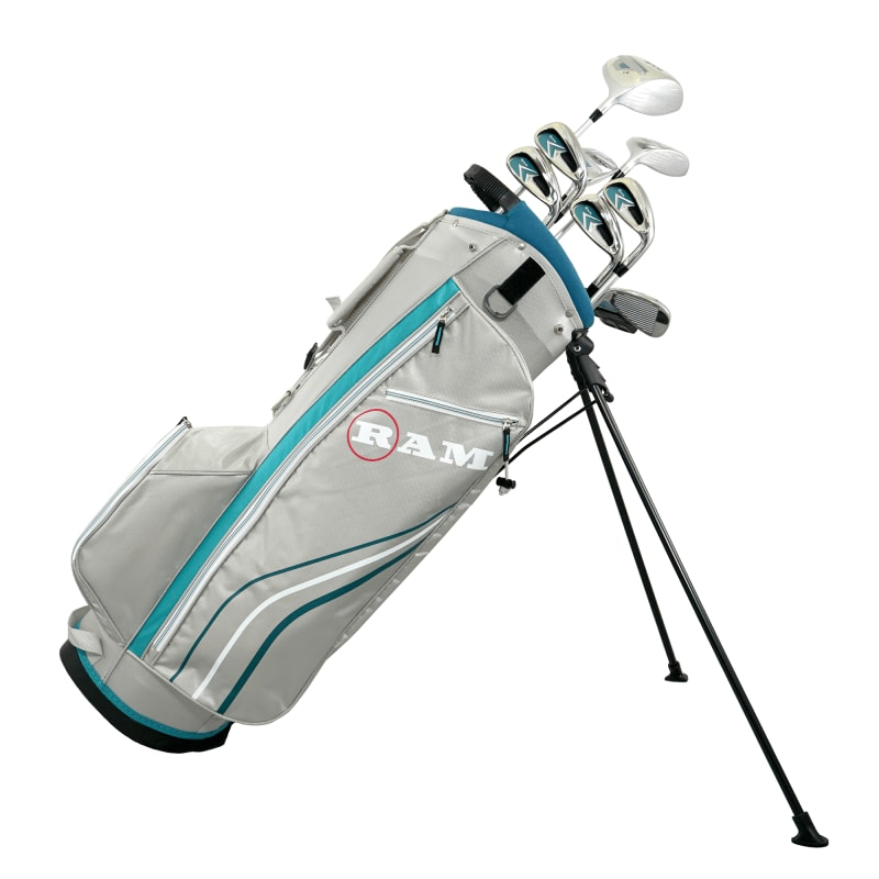 Ram Golf Accubar 12pc Golf Clubs Set - Graphite Shafted Woods and Irons - Ladies RIght Hand