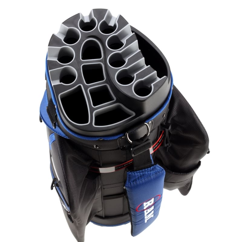 Ram Golf Premium Cart Bag with 14 Way Molded Organizer Divider Top Black Blue #4