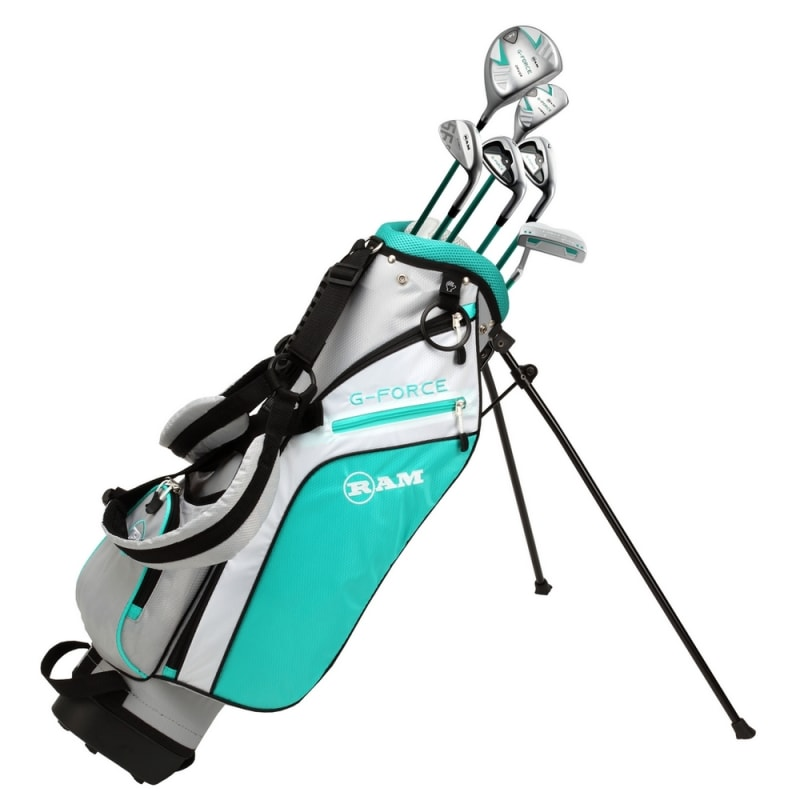 Ram Golf Junior G-Force Girls Golf Clubs Set with Bag - Lefty - Age 7-9